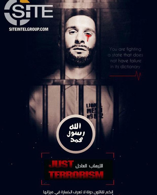 ISIS dọa khủng bố World Cup với hình Messi... khóc ra máu sau song sắt - Ảnh 1.