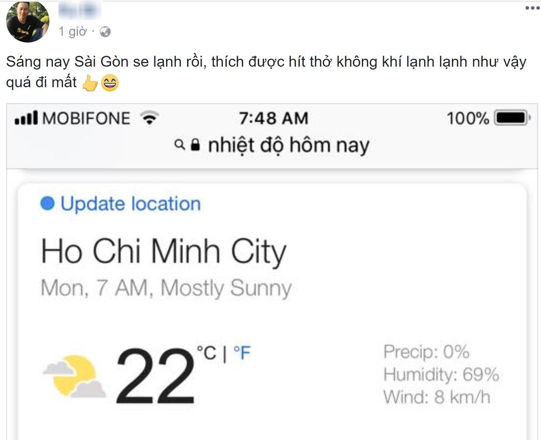 Sáng ngày ra, Facebook rồi Instagram tràn ngập status khoe Sài Gòn trở lạnh! - Ảnh 11.