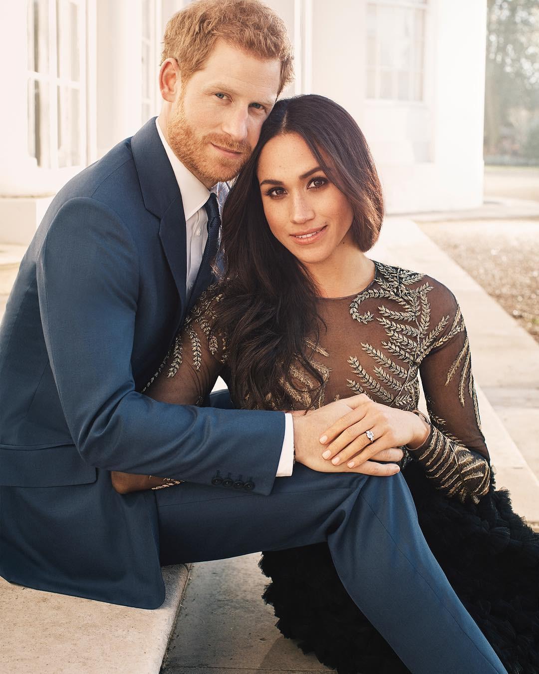 Hôn thê của hoàng tử Harry lại chơi lớn, mua hẳn váy 1,7 tỷ đồng để chụp ảnh đính hôn - Ảnh 2.