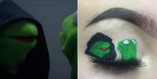 Hết chế ảnh trên máy tính, giờ hội chị em còn vẽ tranh chế trên mắt - Ảnh 7.