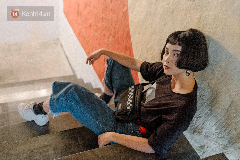 Mai Kỳ Hân - nàng mẫu lookbook mới của Sài Gòn với gương mặt đúng chuẩn búp bê - Ảnh 4.