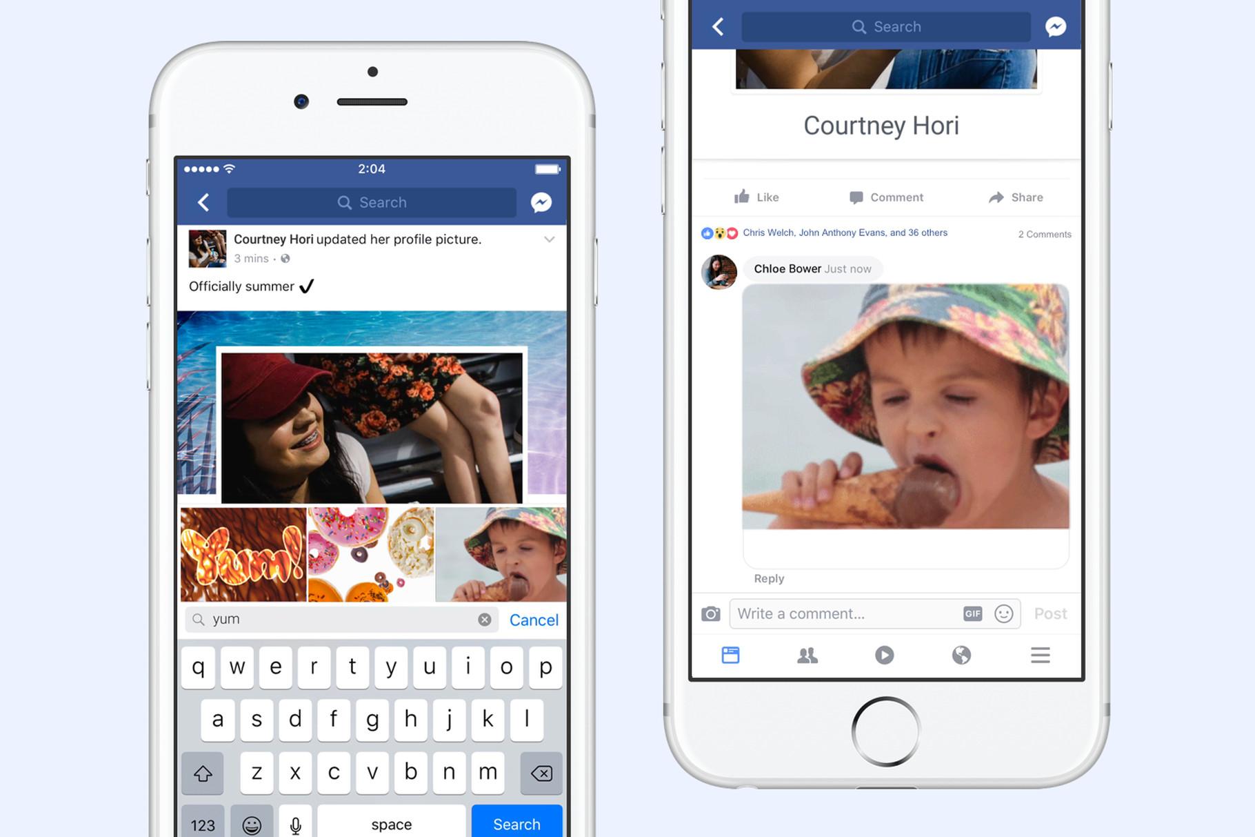 Sau tất cả, Facebook đã cho phép người dùng bình luận bằng ảnh gif không