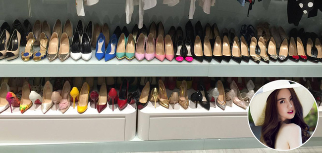Ngọc Trinh hé lộ tủ giày to như cái siêu thị tại gia, nhìn là thấy ngộp thở! - Ảnh 3.