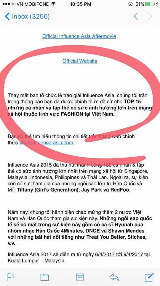 Salim, Sun HT... lọt Top nhân tố thời trang ảnh hưởng nhất mạng xã hội do giải thưởng Influence Asia chọn lựa - Ảnh 1.
