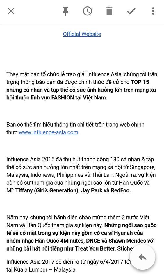 Salim, Sun HT... lọt Top nhân tố thời trang ảnh hưởng nhất mạng xã hội do giải thưởng Influence Asia chọn lựa - Ảnh 7.