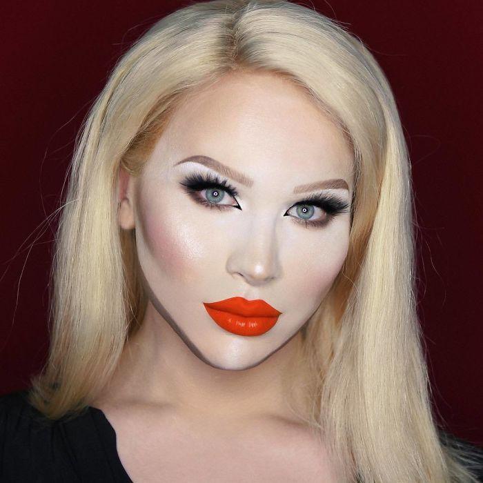 Nghệ sĩ trang điểm có thể hóa trang thành hàng trăm khuôn mặt khác nhau mà không cần photoshop - Ảnh 9.