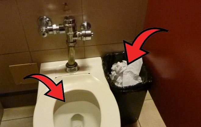 Nên vứt giấy vệ sinh vào bồn cầu hay thùng rác và câu chuyện chứng minh: sự sạch sẽ chỉ là tương đối - Ảnh 1.