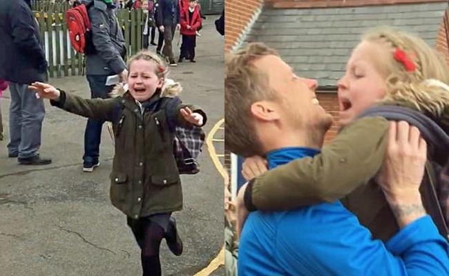 Hình ảnh cô bé ôm chầm lấy cha trở về từ Nam Cực sau nhiều tháng xa cách khiến nhiều người xúc động - Ảnh 2.