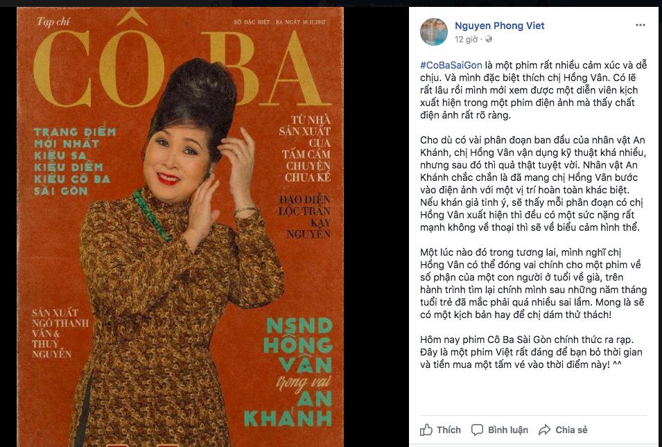 Tăng Thanh Hà, Lương Mạnh Hải và nhiều sao Việt đồng loạt khen ngợi Cô Ba Sài Gòn hết lời - Ảnh 13.