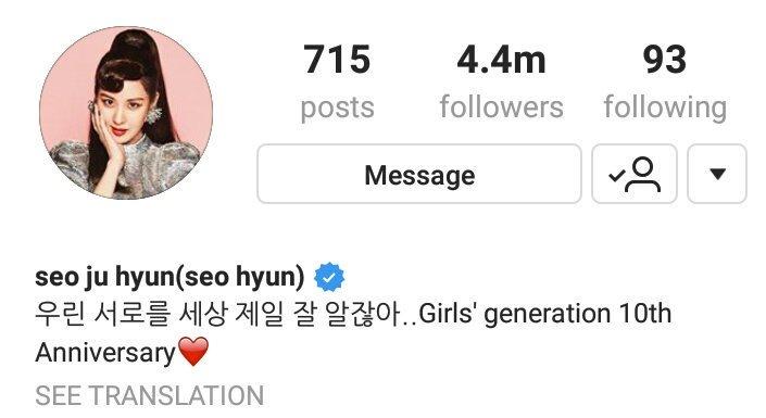 Seohyun bất ngờ bổ sung tên nhóm vào profile Instagram sau khi xóa, SNSD vẫn còn hy vọng? - Ảnh 1.