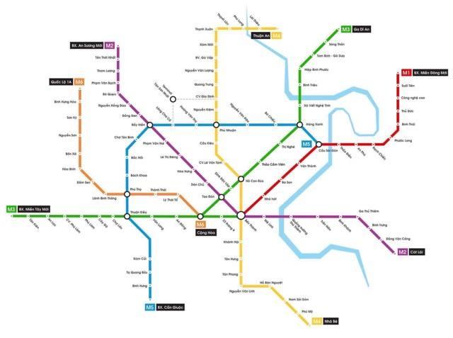 Hình ảnh bản đồ 8 tuyến Metro kết nối toàn thành phố: Người Sài Gòn ngóng tới lúc được đi lại tiện lợi, văn minh! - Ảnh 1.
