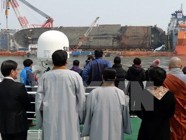 Hàn Quốc: Phát hiện xương nghi là của người bên trong phà Sewol - Ảnh 1.