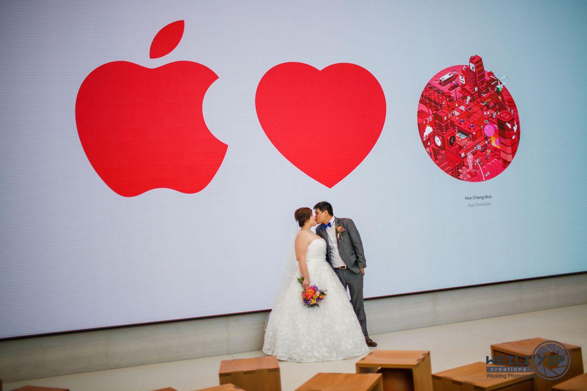 Bộ ảnh cưới của cặp đôi fan cuồng Apple tại Apple Store gây sốt - Ảnh 7.