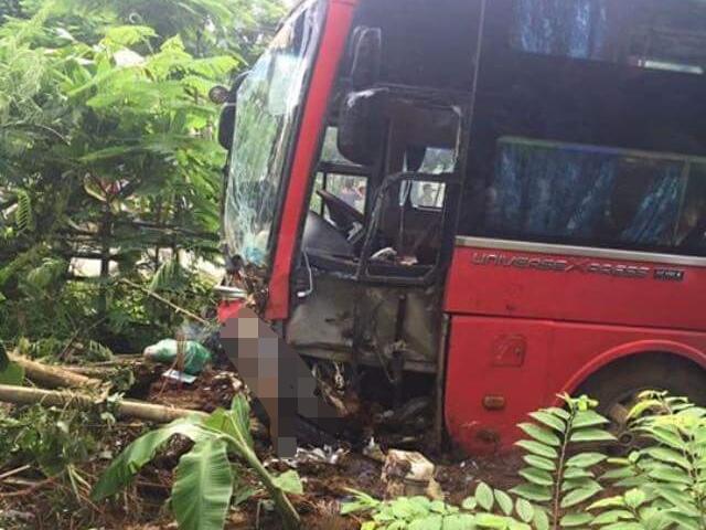 Hai mẹ con tử vong thương tâm sau tai nạn với xe khách - Ảnh 1.