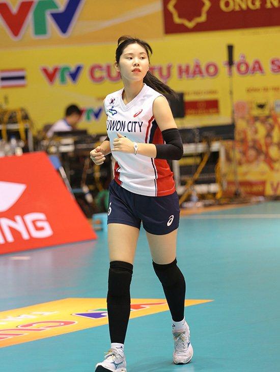 Ngắm vẻ đẹp chân dài xứ Hàn đoạt giải Hoa khôi VTV Cup - Ảnh 1.