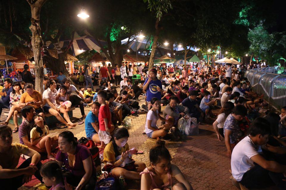 Hàng ngàn người dân đổ về Công viên Đầm Sen xem pháo hoa mừng Tết Độc Lập - Ảnh 2.