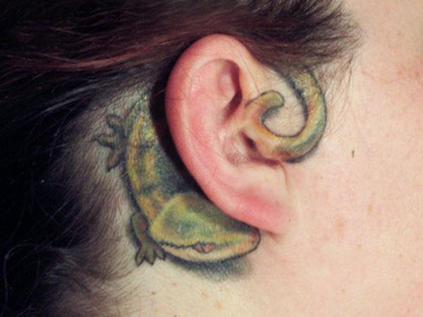 16 mẫu hình xăm nhỏ xinh trên tai dành cho các bạn gái - Ảnh 3.