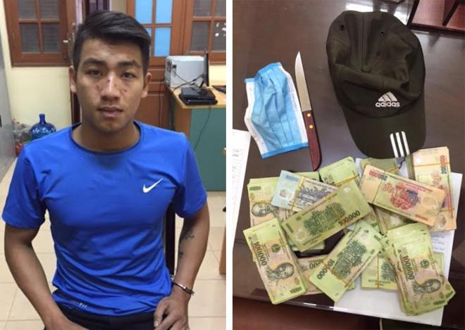 Bắt nóng thanh niên dùng dao cướp 200 triệu trong ngân hàng - Ảnh 1.