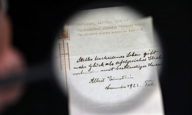 Lời khuyên của nhà bác học Einstein bán được 1,5 triệu USD