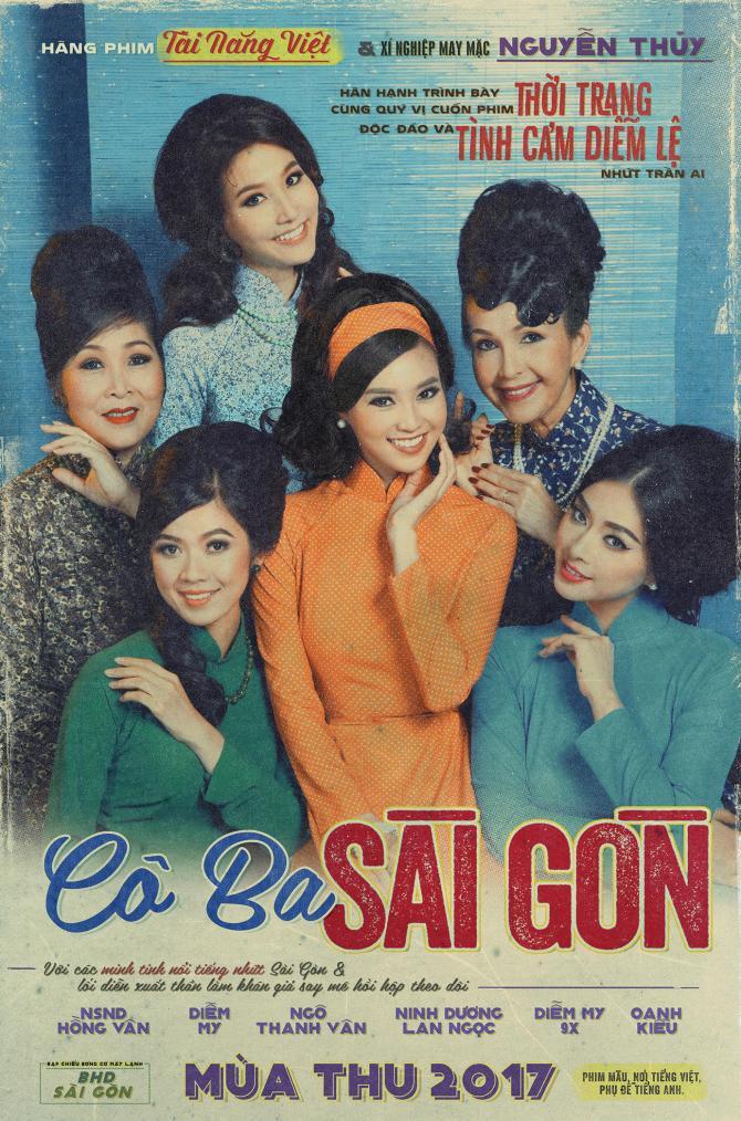 Tấm poster đầu tiên của Cô Ba Sài Gòn dậy sóng mạng xã hội