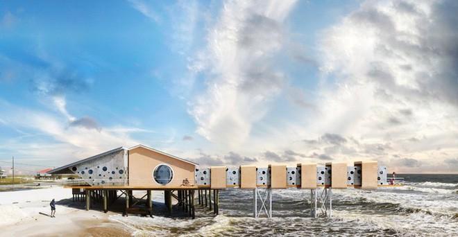 Lấy cảm hứng từ thảm họa thiên nhiên, vị kiến trúc sư này đã tạo ra những ngôi nhà ven biển có thiết kế vô cùng độc đáo - Ảnh 1.