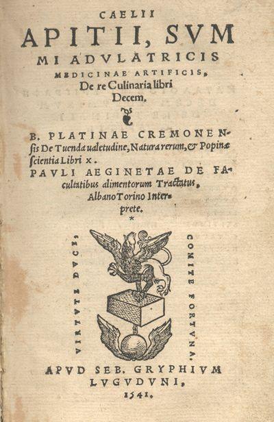 Apicius được xem là tác giả của cuốn sách nấu ăn đầu tiên trong lịch sử, ghi chép nhiều công thức quý giá.