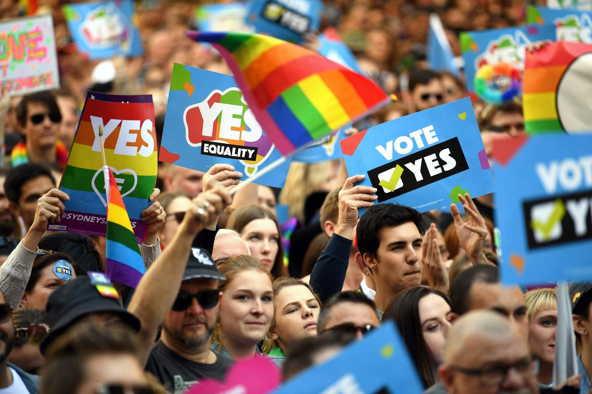 Tin vui trong ngày: Người dân Úc bỏ phiếu đồng ý hợp thức hóa hôn nhân cùng giới! - Ảnh 1.