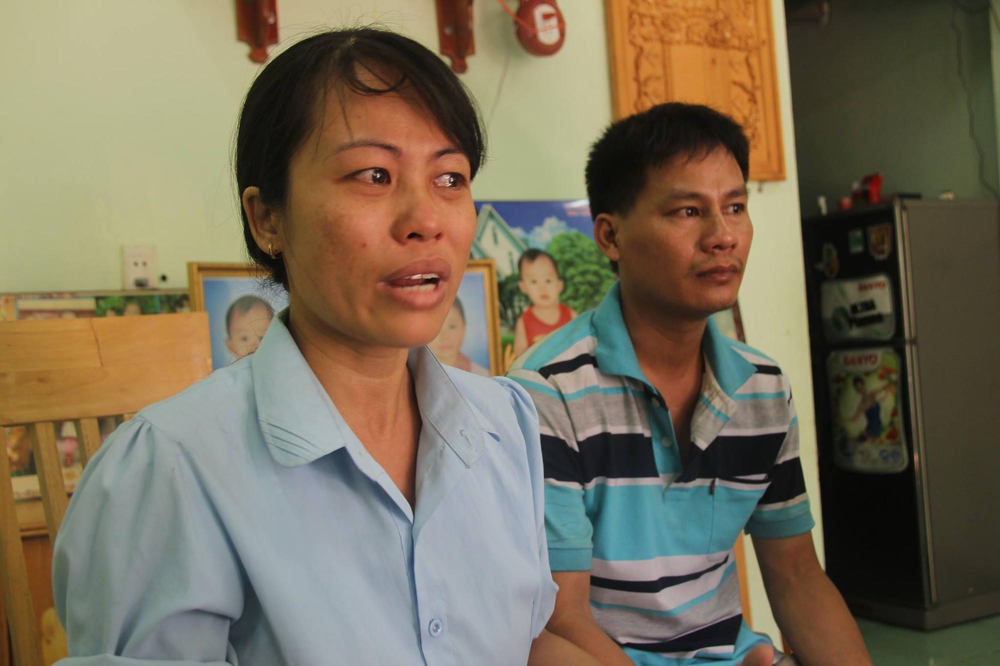 Vợ chồng chị Chung, anh Phú.