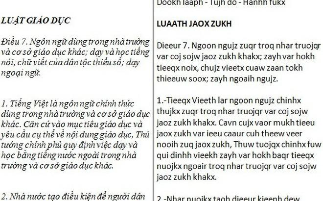 Thêm một đề xuất cải tiến: Tiếng Việt thành Tieeqx Vieeth - Ảnh 1.