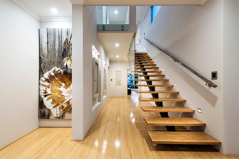 17 thiết kế cầu thang đẹp mắt được kết hợp từ gỗ và kính - Ảnh 25.