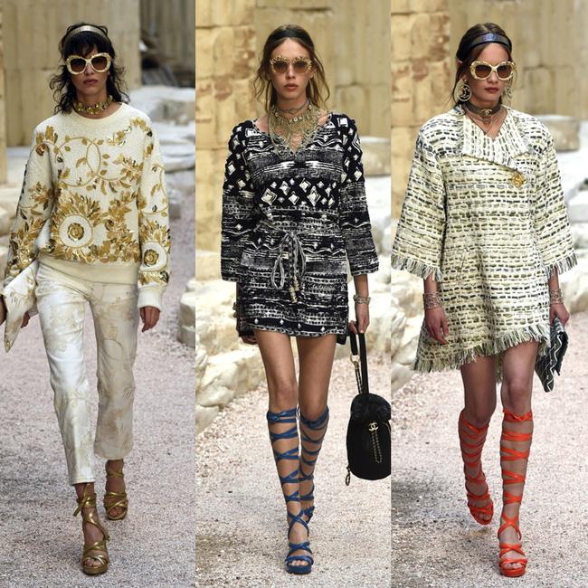 Hết đưa người xem lên vũ trụ, Chanel lại biến runway thành Hy Lạp cổ đại - Ảnh 15.