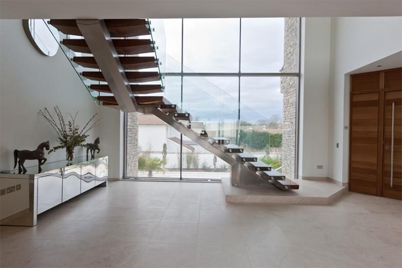 17 thiết kế cầu thang đẹp mắt được kết hợp từ gỗ và kính - Ảnh 31.