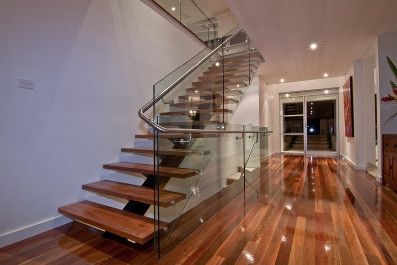 17 thiết kế cầu thang đẹp mắt được kết hợp từ gỗ và kính - Ảnh 33.