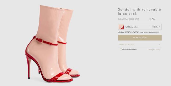 Đến Gucci cũng nhập cuộc xu hướng giày dép độc với đôi sandals kèm tất nhựa khiến dân tình hốt hoảng - Ảnh 3.