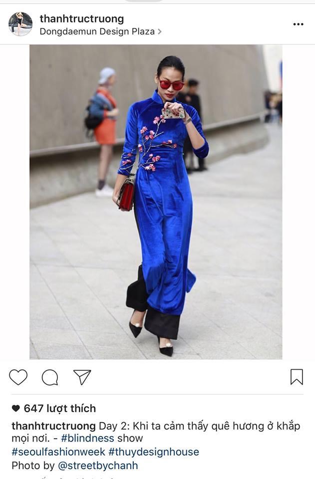 Không phá cách hay nổi loạn, Trương Thanh Trúc nổi bật với áo dài tại Tuần lễ thời trang Seoul 2017 - Ảnh 3.