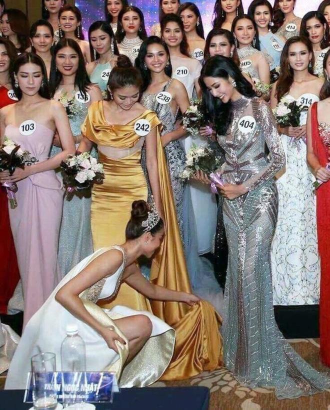 Mất hình ảnh vì Mai Ngô, Phạm Hương lại ghi điểm khi chỉnh giày cho thí sinh - Ảnh 3.