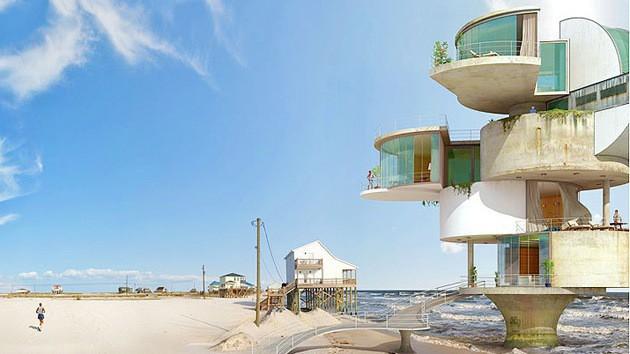 Lấy cảm hứng từ thảm họa thiên nhiên, vị kiến trúc sư này đã tạo ra những ngôi nhà ven biển có thiết kế vô cùng độc đáo - Ảnh 3.