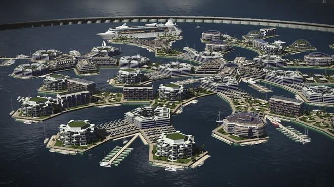 Bạn không hoa mắt đâu, đây là thành phố nổi đầu tiên trên thế giới giữa đại dương mênh mông - Ảnh 3.