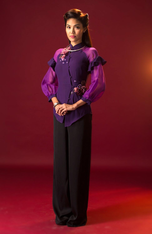 Hoá ra cảm hứng cho tạo hình tím rịm của mợ Tư Thì Lan Khuê trong Mẹ chồng là từ đây! - Ảnh 4.
