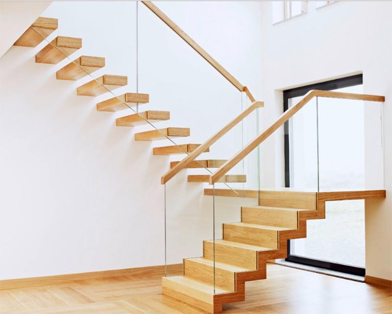 17 thiết kế cầu thang đẹp mắt được kết hợp từ gỗ và kính - Ảnh 5.
