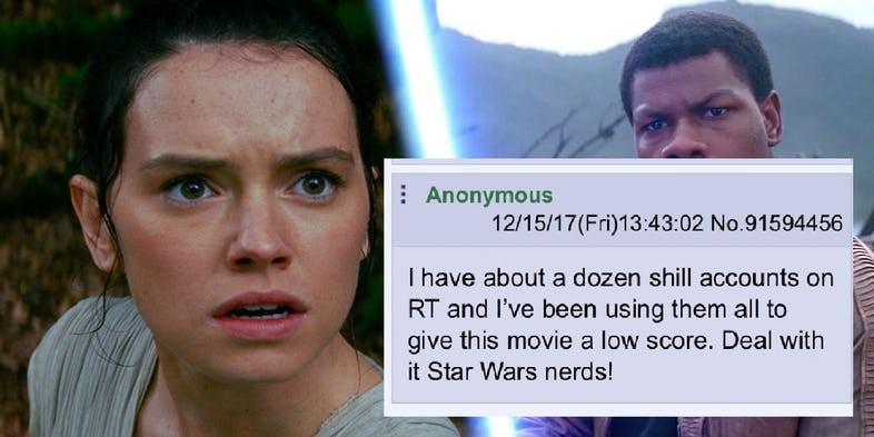 Nghi án điểm số khán giả của Star Wars: The Last Jedi bị dìm hàng một cách có chủ ý - Ảnh 3.