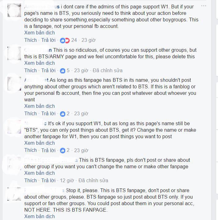 Mê Wanna One, admin đăng cả album ảnh Wanna One lên fanpage BTS gây bức xúc - Ảnh 6.