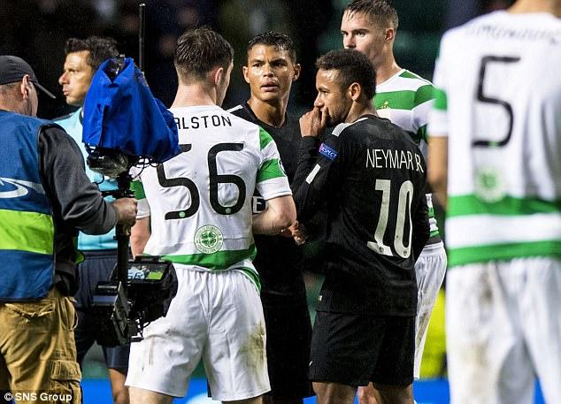 Bị hậu vệ Celtic cười nhạo, Neymar phản ứng không ngờ - Ảnh 4.