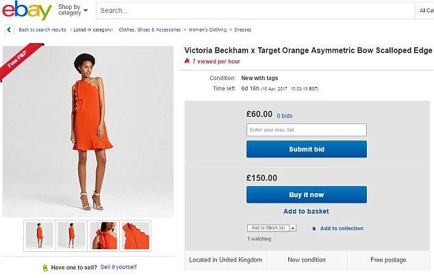 Vừa mới được bán chính thức, BST mới của Victoria Beckham đã bị đội giá lên gần 3 lần trên Ebay - Ảnh 5.