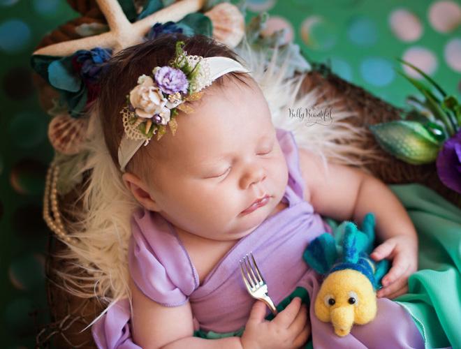 Bộ ảnh đẹp lung linh của các bé sơ sinh vào vai công chúa Disney - Ảnh 9.