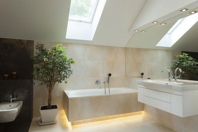 14 thiết kế phòng tắm gác mái vừa nhìn qua đã thích ngay - Ảnh 9.