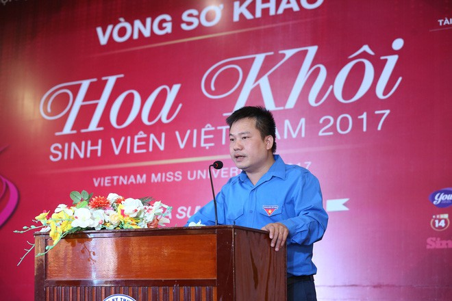 Trưởng BTC Hoa khôi Sinh viên Việt Nam 2017 - anh Hoàng Tuấn Việt.