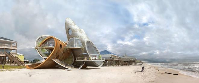 Lấy cảm hứng từ thảm họa thiên nhiên, vị kiến trúc sư này đã tạo ra những ngôi nhà ven biển có thiết kế vô cùng độc đáo - Ảnh 6.