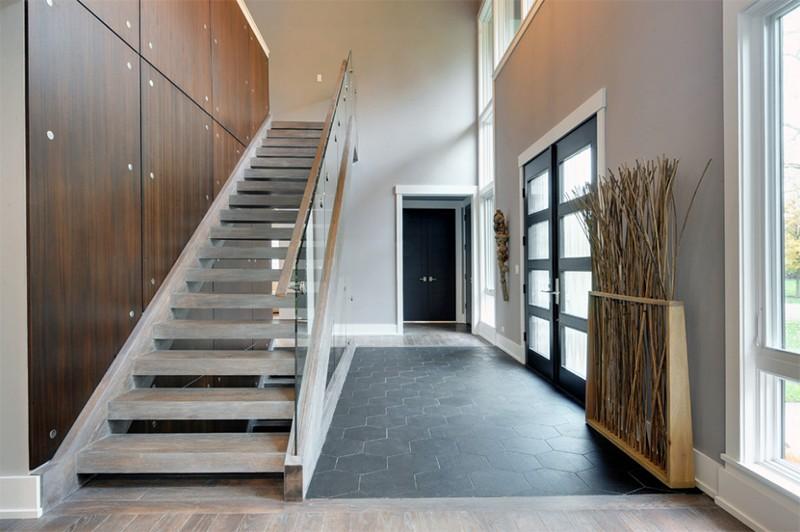 17 thiết kế cầu thang đẹp mắt được kết hợp từ gỗ và kính - Ảnh 11.