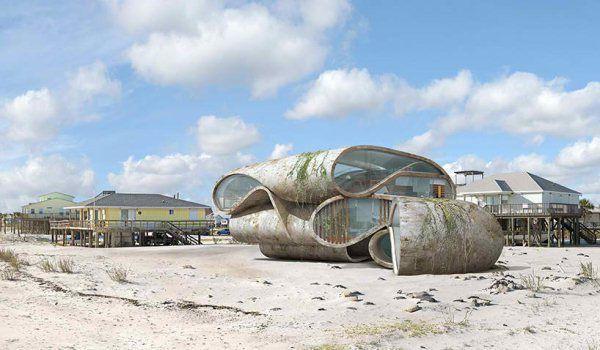 Lấy cảm hứng từ thảm họa thiên nhiên, vị kiến trúc sư này đã tạo ra những ngôi nhà ven biển có thiết kế vô cùng độc đáo - Ảnh 7.